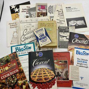 Vintage Health Food cookbooks and pamphlets